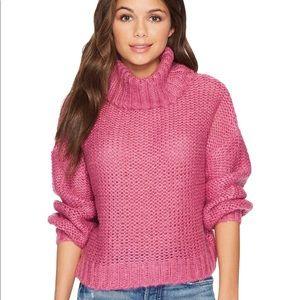 Pink Purple billabong stay here turtleneck sweater